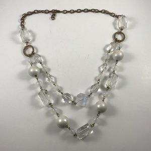 Vintage Crystal Beaded Necklace, Vintage Necklace
